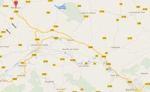 Carte de Nettancourt, dans la Meuse