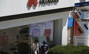 Illustration de Huawei, géant des télécoms chinois.