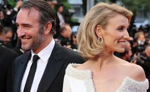 Jean Dujardin et Alexandra Lamy, au festival de Cannes, le 27 mai 2012.