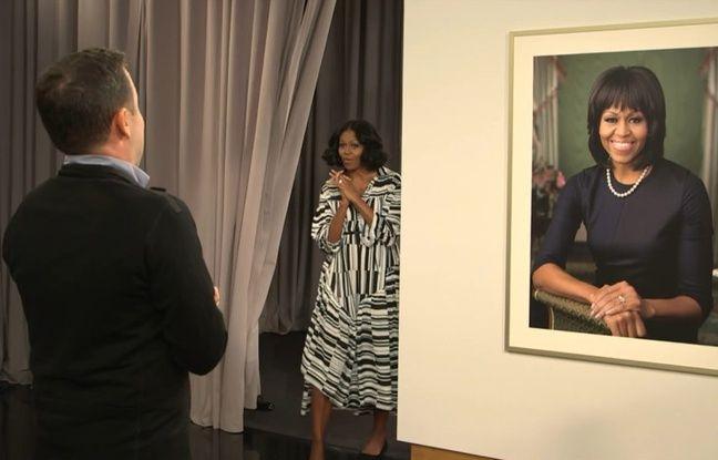 video michelle obama surprend ses admirateurs en cam ra cach e. Black Bedroom Furniture Sets. Home Design Ideas