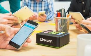 La Klaxoon Box ambitionne de rendre les réunions de travail plus vivantes.