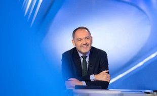 Stéphane Guy, sur le plateau du Canal Football Club, du temps où il figurait dans l'effectif de Canal+.