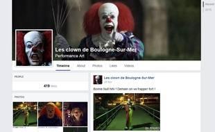 Page Facebook des clowns de Boulogne-sur-Mer