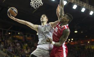 Strasbourg, le 19 novembre 2015. - Jérémy Leloup a inscrit 24 points lors du succès de la SIG sur l'Etoile Rouge de Belgrade (78-75).
