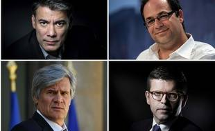 Olivier Faure, Emmanuel Maurel, Stephane Le Foll, Luc Carvounas. AFP PHOTO