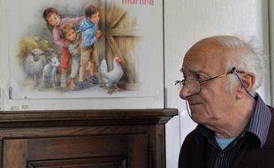 Marcel Marlier, l'illustrateur de «Martine» le 16 novembre 2010 chez lui à Tournay