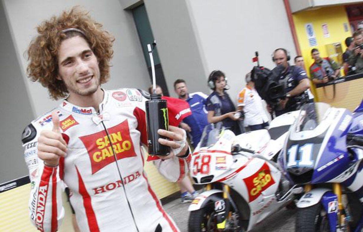 Marco Simoncelli, le 2 juillet 2011, au Grand Prix de Mugello. – T. GENTILE / REUTERS