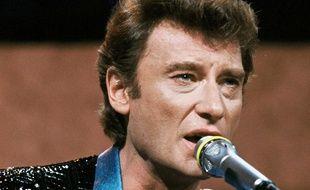 Johnny Hallyday en concert au Zénith de Paris en octobre 1984