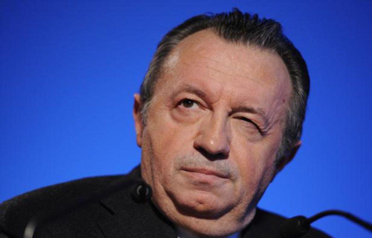 Jean-Noël Guérini, le 17 février 2011, lors d'un dîner républicain à Allauch (Bouches-du-Rhône). – B. HORVAT/ AFP