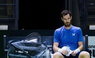 Andy Murray ici lors du premier tour de l'Open de Rennes. L'Ecossais a été éliminé au second tour par le Russe Roman Safiullin.