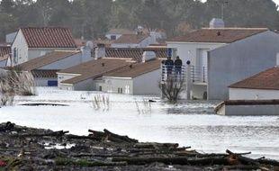 La Faute-sur-Mer sous les eaux en février 2010 à la suite de la tempête Xynthia
