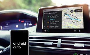 Coyote intègre Android Auto