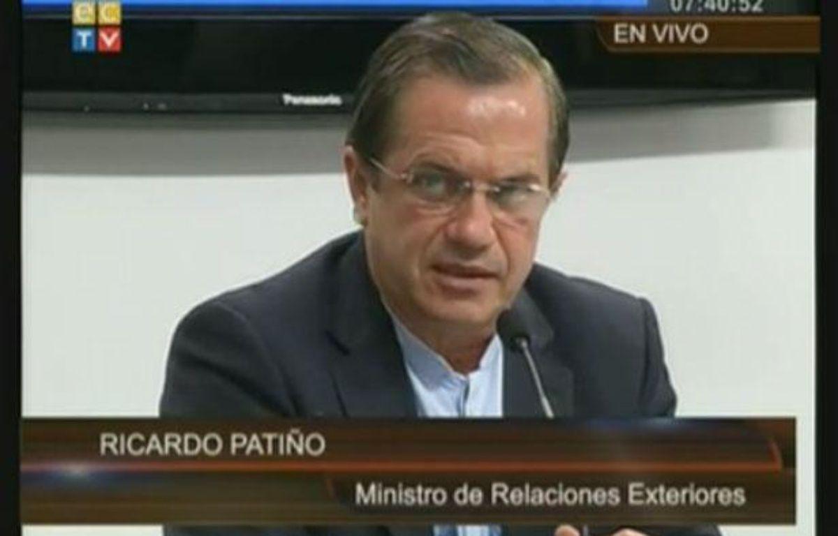 Ricardo Patiño, ministre équatorien des Affaires étrangères, le 16 août 2012 à Quito. – 20MINUTES.FR