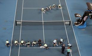 La première journée de l'Open d'Australie à été perturbée par la pluie.