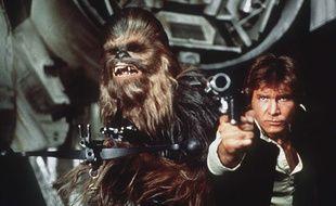Chewbacca et Han Solo dans Star Wars