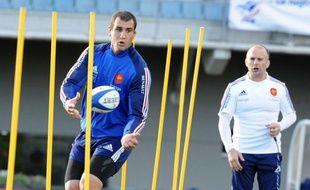 Yoann Maestri lors d'un entraînements avec les Bleus, le 20 novembre à Marcoussis.