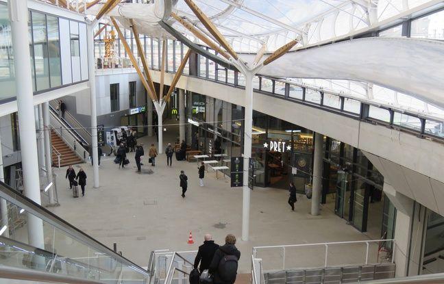 L'intérieur de la nouvelle gare de Rennes, le 11 février 2019.