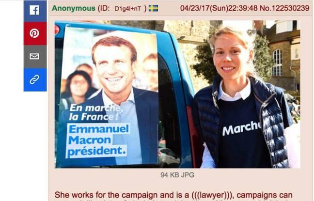 Fake news du site 4chan sur Emmanuel Macron