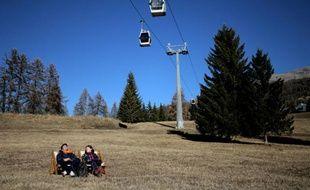 Dans la station de ski de San Sicario, dans les Alpes italiennes, le 30 décembre 2015