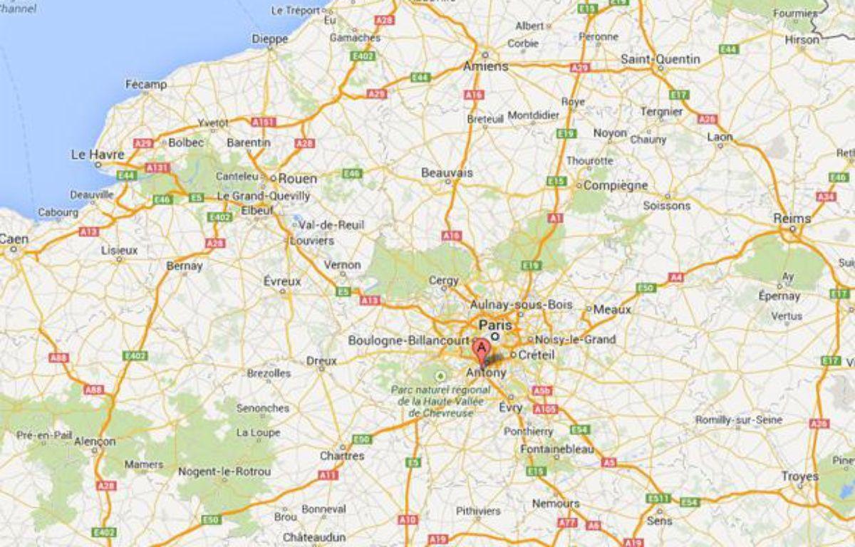 Massy, dans l'Essonne. – Capture d'écran Google map