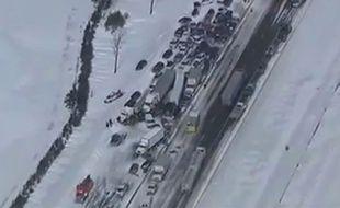 96 véhicules sont impliqués dans l'accident.