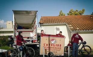 L'atelier Remuménage dispose de quatre camions et de 11 vélos-cargos.