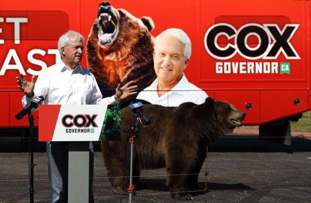 648x415 pour conquerir le poste de gouverneur de californie john cox fait campagne avec un ours a sacramento