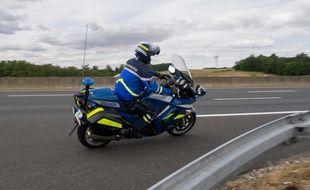 Un motard de la gendarmerie en 2015 (illustration)