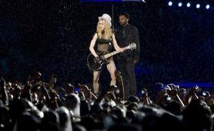 Madonna en concert au Maracana stadium à Rio de Janeiro, Brésil, le 14 décembre 2008.