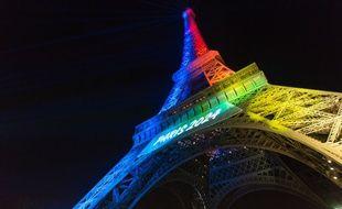 Des défenseurs de la langue française dénoncent le slogan en anglais pour soutenir la candidature de Paris 2024 (Illustration).