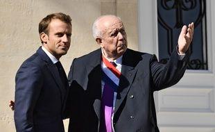 Emmanuel Macron et Jean-Claude Gaudin au Pharo en 2018