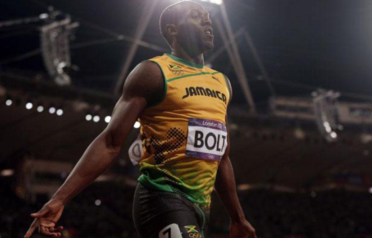 Usain Bolt, le 5 août 2012, après la finale du 100m lors des Jeux olympiques de Londres. – Mark Blinch / Reuters