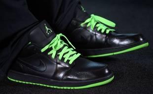 Au total, 11 paires d'Air Jordan portées en match ou ayant appartenu au joueur sont proposées lors de cette vente en ligne