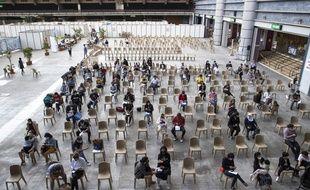 Le centre de vaccination de Nice, le 14 mai 2021.