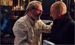 Terry Gilliam et Christoph Waltz sur le plateau de Zero Theorem