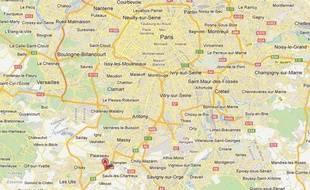Google Maps de Villebon-sur-Yvette (Essonne).
