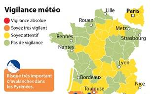 Carte de vigilance orange avalanche du 24 février 2015