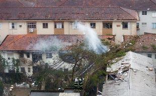Le jet privé s'est écrasé sur un gymnase d'une zone résidentielle, le 13 août 2014.