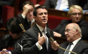 Le Premier ministre français Manuel Valls, à l'Assemblée nationale, le 28 octobre 2015