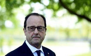 Le président François Hollande le 22 mai 2015 à Riga