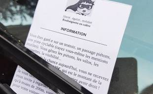 Un faux PV délivré par le Front de libération des trottoirs de Roubaix.