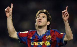 Le footballeur argentin du FC Barcelone Lionel Messi, lors d'un match de Coupe du Roi, le 10 novembre 2009.