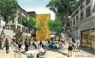 Image du projet de nouveau quartier «Promenade Sainte-Catherine», en plein coeur du centre de Bordeaux.