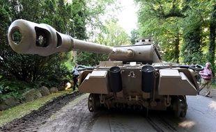 Un char Panther de la Seconde guerre mondiale retrouvé chez un particulier en Allemagne, le 2 juillet 2015.