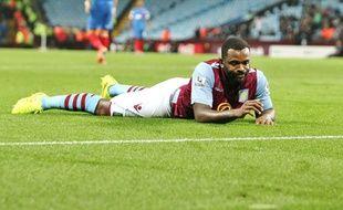 L'attaquant de Villa Darren Bent, en septembre 2014