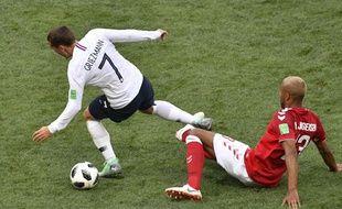 Griezmann lors de France-Danemark à la Coupe du monde, le 26 juin 2018.