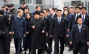 Le leader nord-coréen Kim Jong Un à son arrivée à Vladivostok en Russie, le 24 avril 2019.