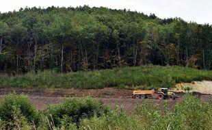 Sur le site où devait être construit le barrage de Sivens, en 2017.