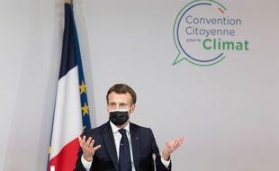 Emmanuel Macron le 14 décembre 2020 à Paris.