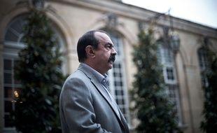 Le Premier ministre et  la Ministre du Travail ont commence leur serie d'entretien avec les partenaires sociaux. Ils ont recu Philippe MARTINEZ (Secretaire general de la CGT), le 24 Juillet 2017, a l'Hotel de Matignon, Paris, France.